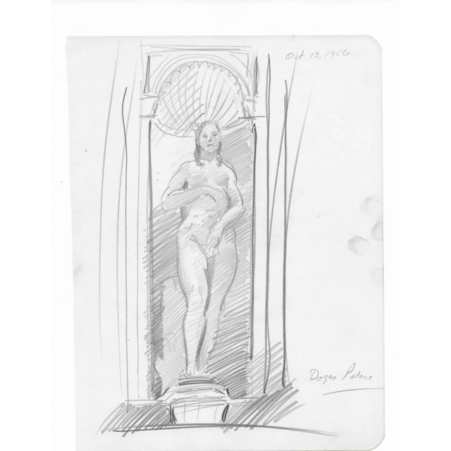 Traditional Doges Palace Sculpture by Charles Merrill Mount 1957 For Sale - Image 3 of 3