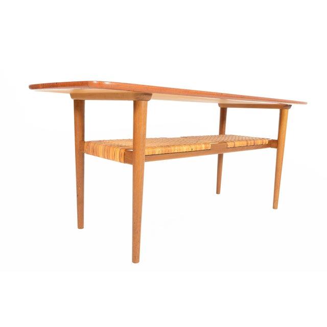 Danish Modern Teak Surfboard Coffee Table - Image 3 of 8