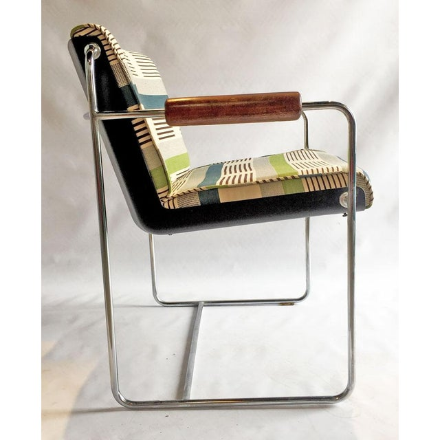 1960's Chrome Accent Chair - Image 3 of 6