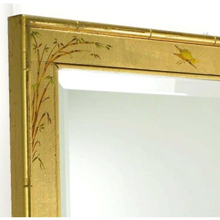 """50"""" LaBarge Hand Painted & Gilt Beveled Wall Mirror Preview"""