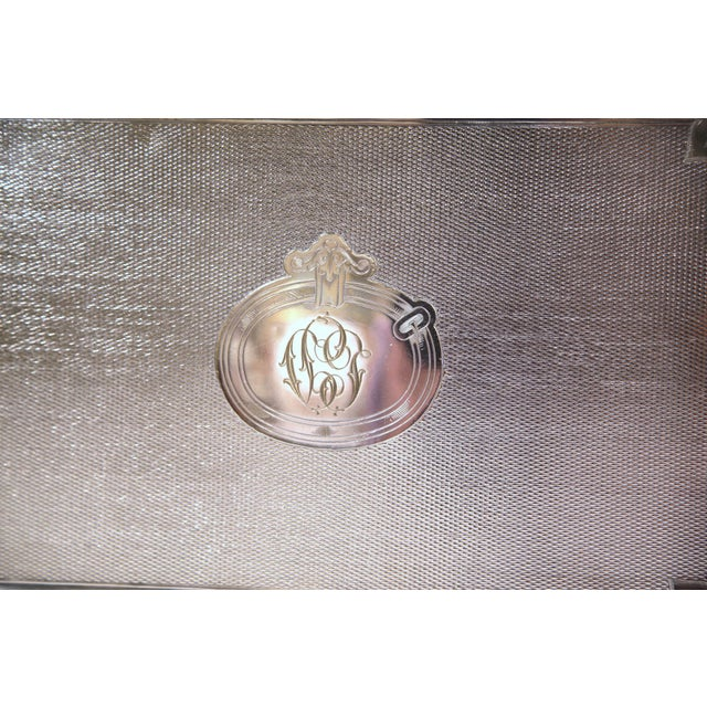 Metal 19th Century French Silver Plated Tray Signed Pelloutier & Cie, 1894 For Sale - Image 7 of 9