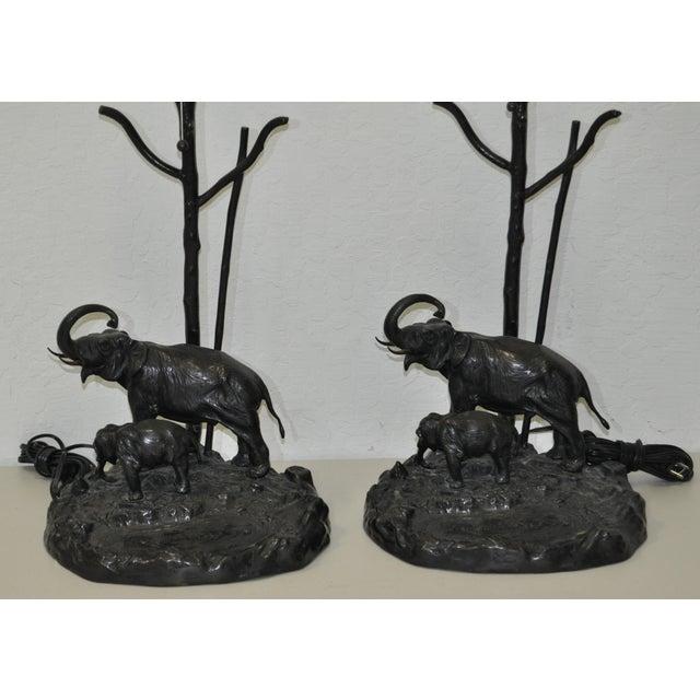 Italian Elephant & Calf Table Lamps - A Pair - Image 3 of 5
