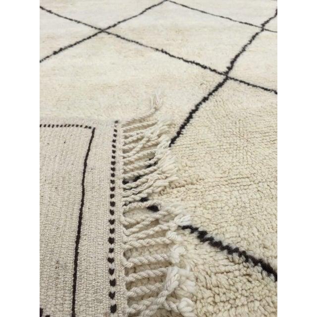 "Harlequin Moroccan Handmade Wool Rug - 10'9"" x 7'2"" - Image 3 of 4"