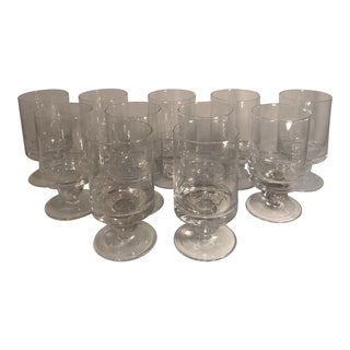 Waterford Rotondo Crystal Water Glass Goblets - Set of 11 For Sale