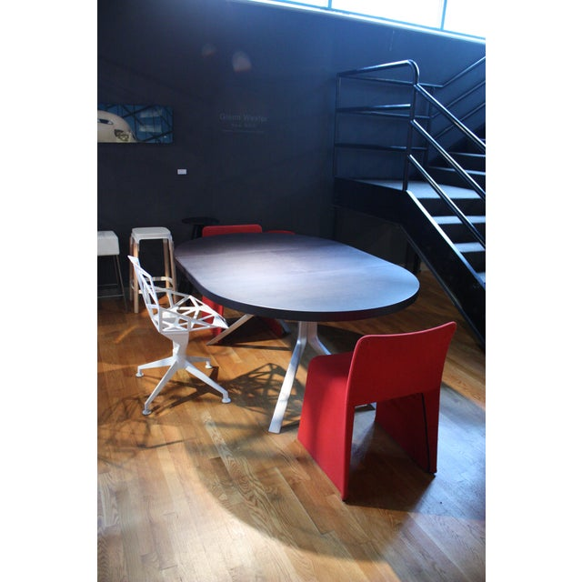 Molteni Patricia Urquiola Red Fabric Glove Dining Chairs - a Pair For Sale - Image 4 of 6