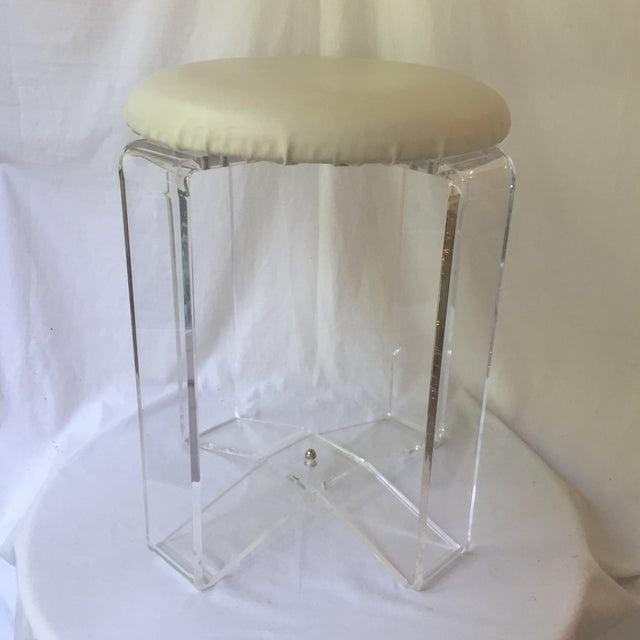 Vintage Lucite Stool - Image 2 of 8