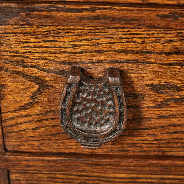 Wood Horse Motif Cabinet For Sale - Image 7 of 9