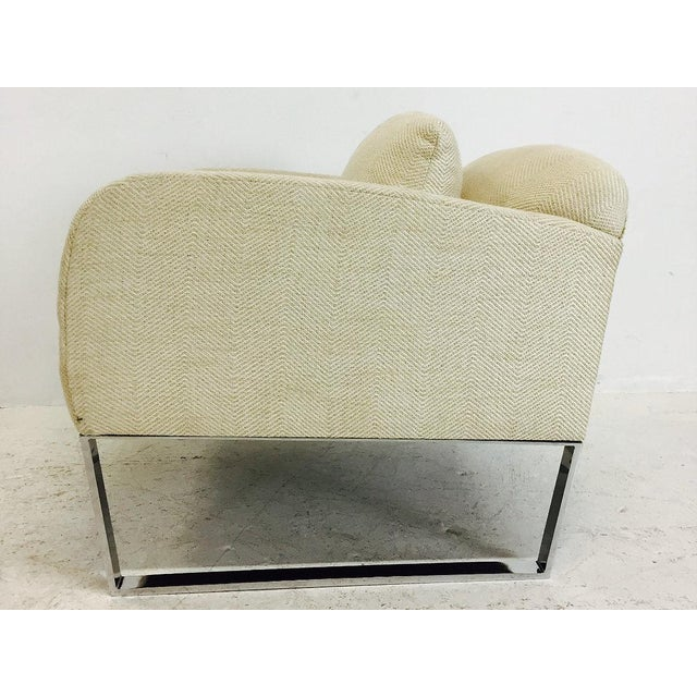 1990s Pair of Donghia Focal Deco Style Lounge Chairs For Sale - Image 5 of 8
