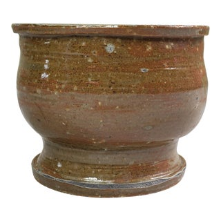 Vintage Brown Studio Pottery Cup For Sale