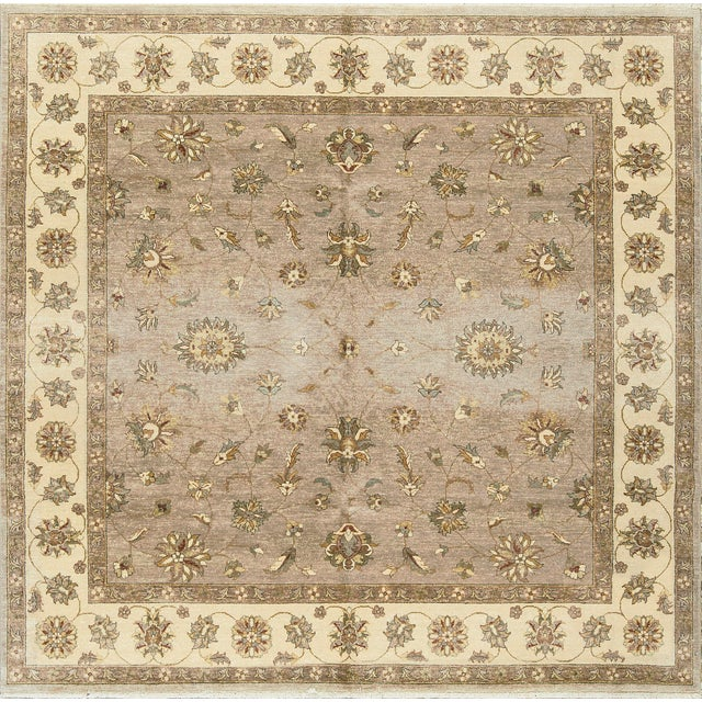 Traditional Hand Woven Rug 7'10 X 7'11 For Sale - Image 4 of 4