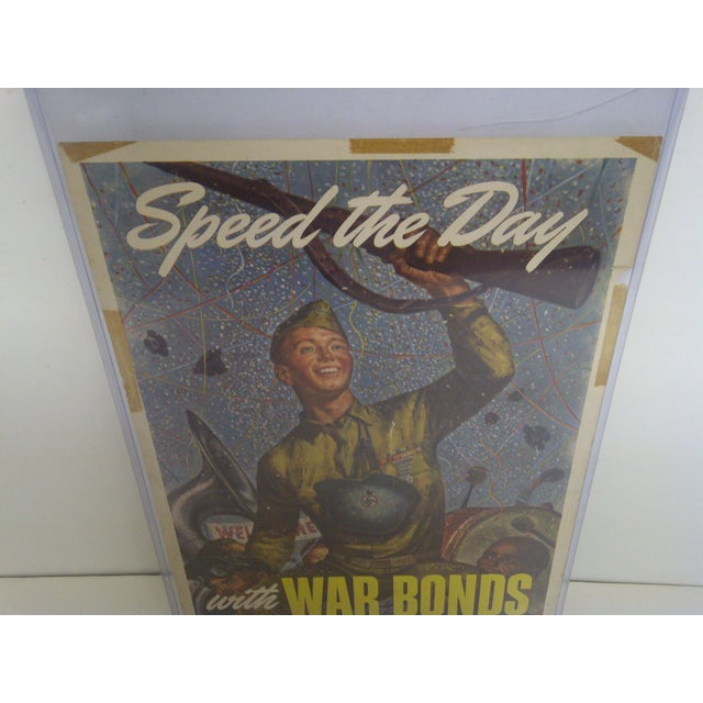 Vintage WWII War Bonds Poster For Sale - Image 5 of 8