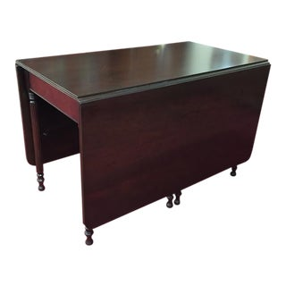 Vintage Traditional Mahogany Drop Leaf Table For Sale