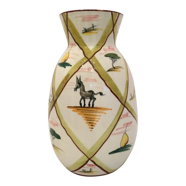 Italian Majolica Donkey Vase - Image 1 of 11