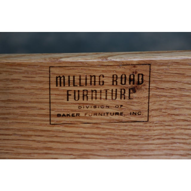 Baker Furniture Milling Road Campaign Style Long Dresser or Credenza For Sale - Image 12 of 13
