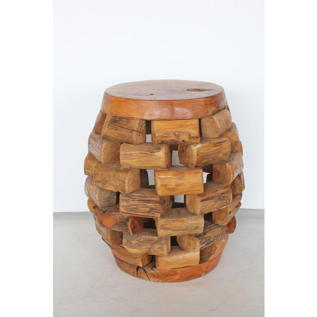 Modern Modern Handmade Accent Table or Stool For Sale - Image 3 of 5