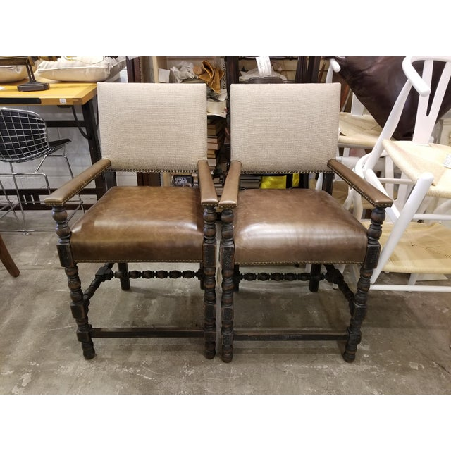 Animal Skin Transitional Hooker Comfort Counter Stools - a Pair For Sale - Image 7 of 7