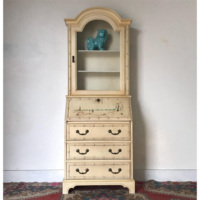 Pretty vintage bamboo secretary. Such a great piece to showcase your fave accessories and hide mail and bills away. Has...