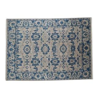 "Traditional Handmade Wool Oushak Rug - 10'3"" x 14'"