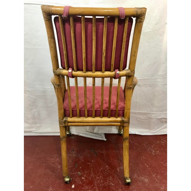 1970s Bamboo Dining Chairs Set of 8 For Sale - Image 5 of 13