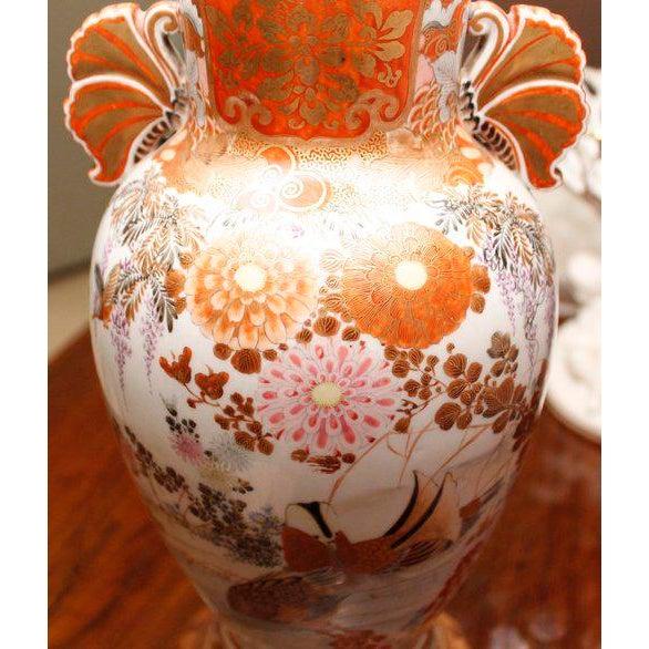 Japanese Satsuma Ware Vase Lamp For Sale - Image 10 of 11