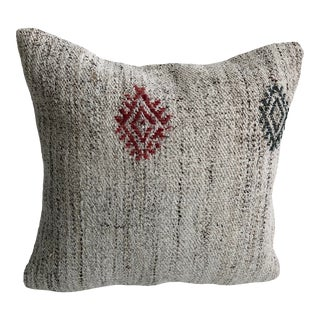 Vintage Organic Tribal Turkish Decorative Sofa Pillow For Sale