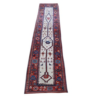 "Antique Persian Shahsavan Runner - 3'3"" x 14'8"" For Sale"