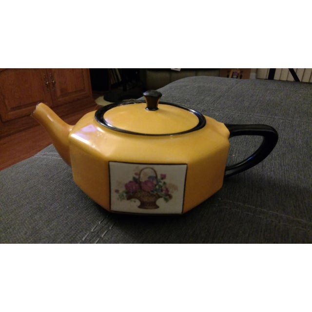 1957 Antique Steubenville China Teapot For Sale - Image 5 of 5
