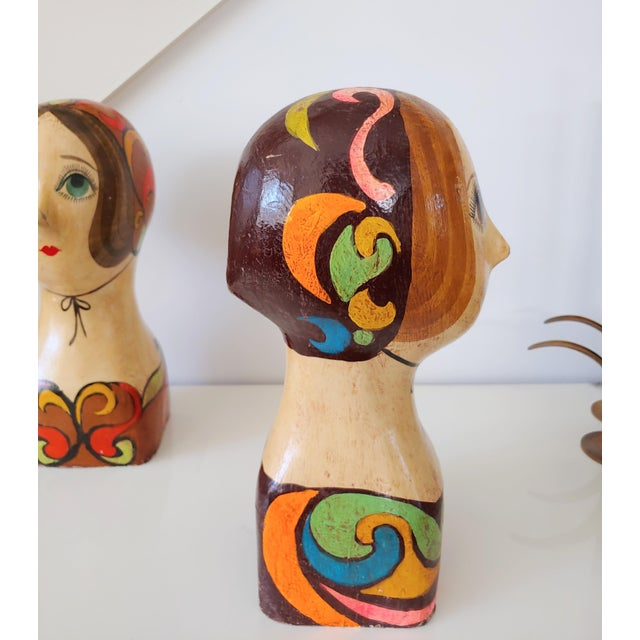 Mid-Century Modern 1960s Faux Italian Ceramic Bust For Sale - Image 3 of 7
