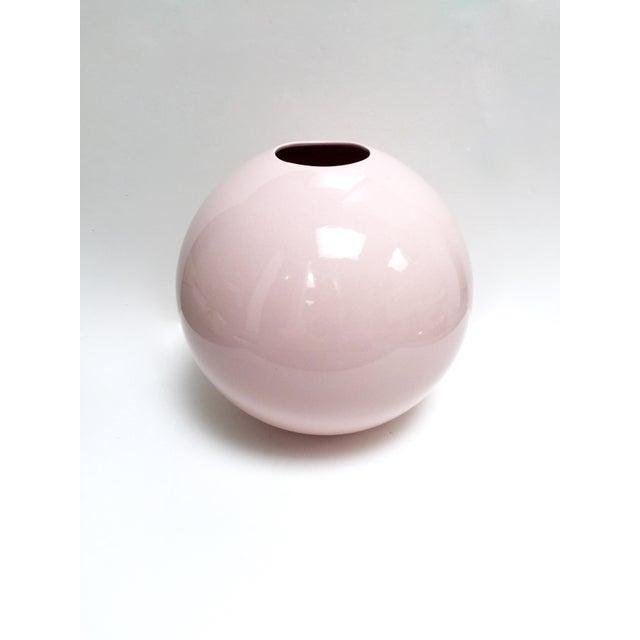 Large Round Gumball Pink Vintage Vase - Image 2 of 7