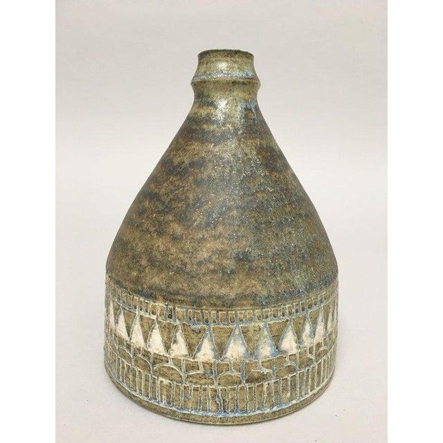 1960s Scandinavian Modern Hald Soon Studio Ceramic Bottle Vase For Sale - Image 9 of 9