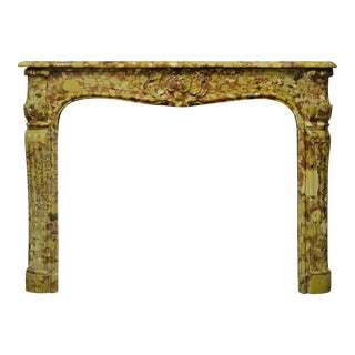 18th Century Louis XV - XVI Breche D' Allepe Fireplace Mantel For Sale