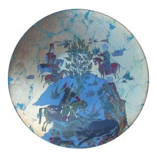 Mughal Scene Glass Plate For Sale