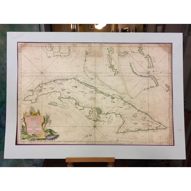 1762 Depot Des Cartes Carte Reduite De l'Isle De Cube Map of Cuba Hydrographical For Sale - Image 13 of 13