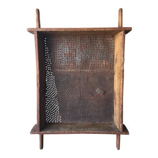 Rustic Tuscan Farm Grain Sieve For Sale