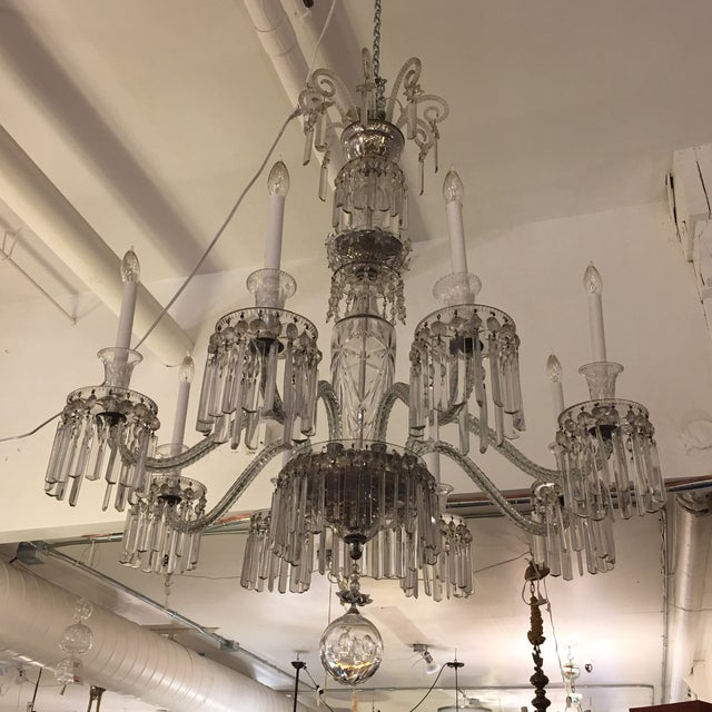 Antique Eight Arm Crystal Chandelier - Image 2 of 11