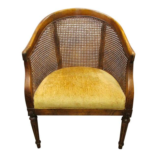 Vintage Cane Back Barrel Chair For Sale - Vintage Cane Back Barrel Chair Chairish