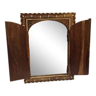 Vizagapatam Anglo-Indian Mirror Inlaid With Ox Bone For Sale