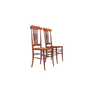 1910s John A. Dunn Cane Seat Dining Chairs- a Pair For Sale