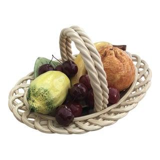 1960s Vintage Italian Ceramic Fruit Bowl For Sale
