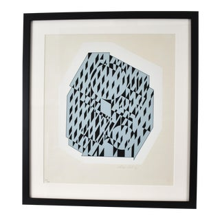 Silkscreen Print by Victor Vasarely. For Sale