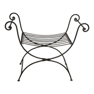 Vintage Iron Folding Bench For Sale