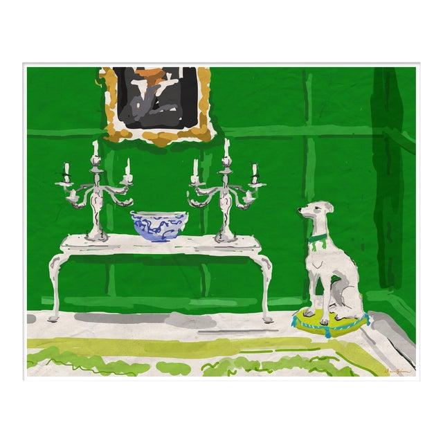 """Green Dog"" By Dana Gibson, Framed Art Print For Sale"