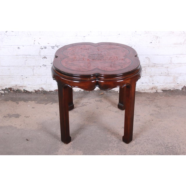 A gorgeous Hollywood Regency Chinoiserie occasional table from the Connoisseur line by Drexel Heritage. The table features...
