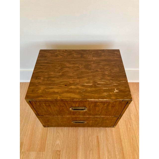Mid-Century Modern Late 20th Century Dixie Campaign Nightstand For Sale - Image 3 of 12