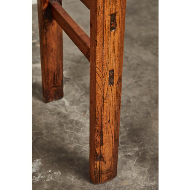 19th C. Chinese Elm Four Drawer Altar Table For Sale In Los Angeles - Image 6 of 10
