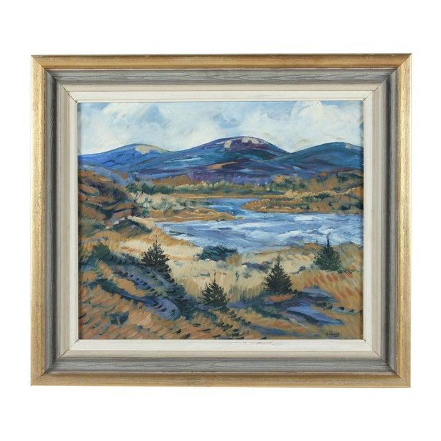 Framed Horsen Impressionist Oil Painting - Image 1 of 3