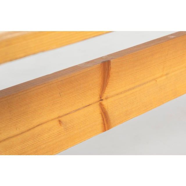 Pair of Les Arcs Pine Benches by Charlotte Perriand For Sale - Image 9 of 13