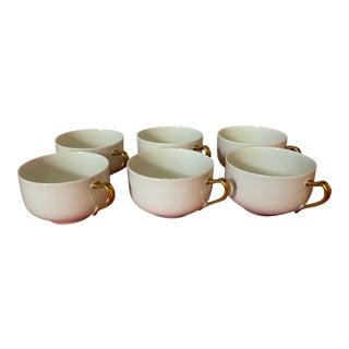 1930s Haviland & Co Limoges France Porcelain Cups - Set of 6 For Sale