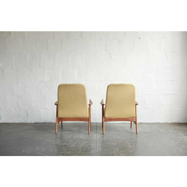 Fritz Hansen Vintage Mid Century Alf Svensson Highback Lounge Chairs- A Pair For Sale - Image 4 of 8