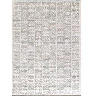 Handwoven Swedish Inspired Wool Rug For Sale